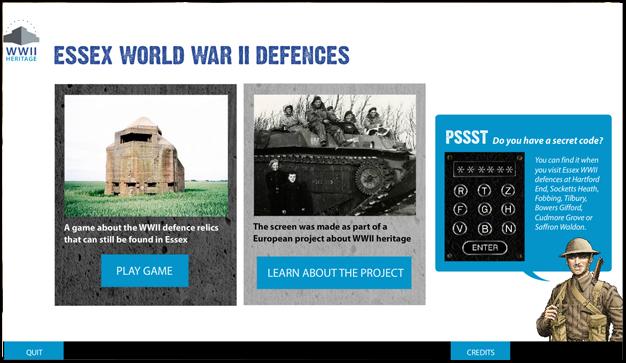 ECC World War 2 touch-screen
