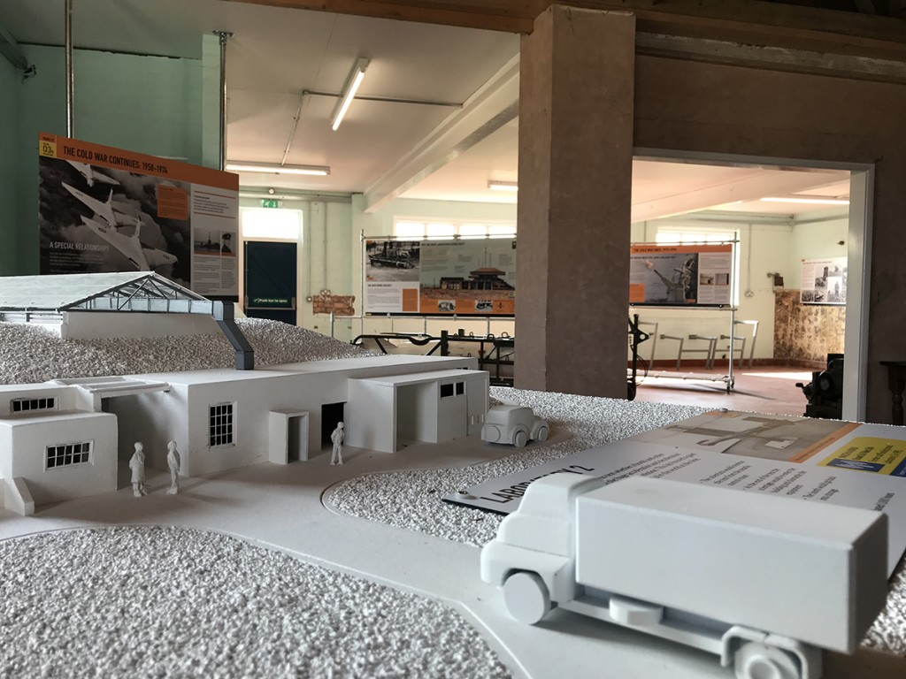 The Island of Secrets exhibition, with a model of Laboratory 2 in the foreground
